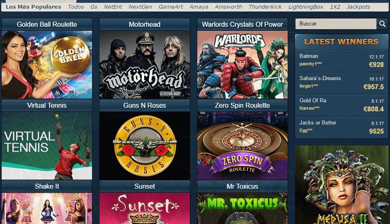 Oceanbets Casino juegos