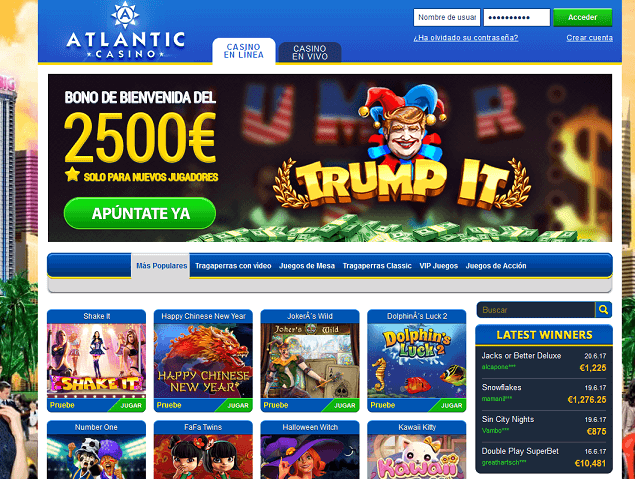 Atlantic Casino HOMEpage