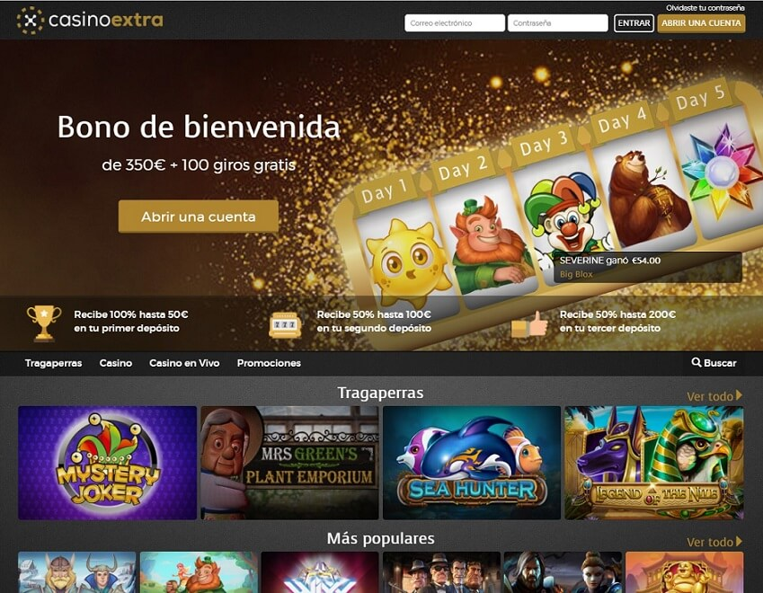 Casino extra homepage