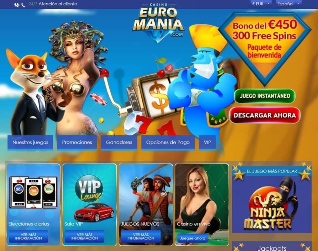 euromania casino mainpage