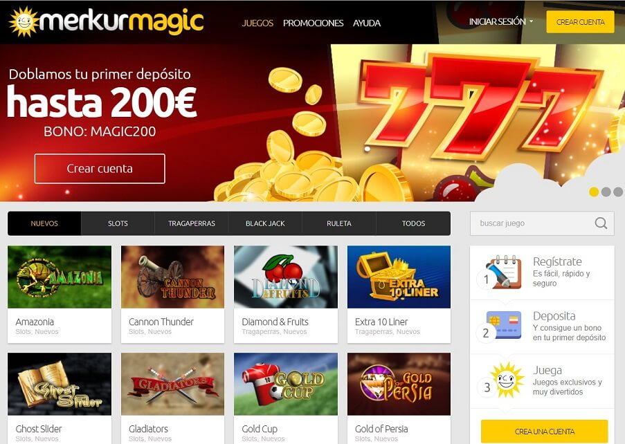 merkurmagic casino mainpage