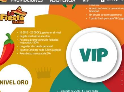 Bonos La Fiesta Casino VIP