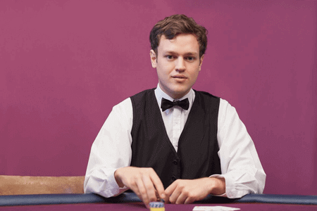 crupier para casinos en vivo