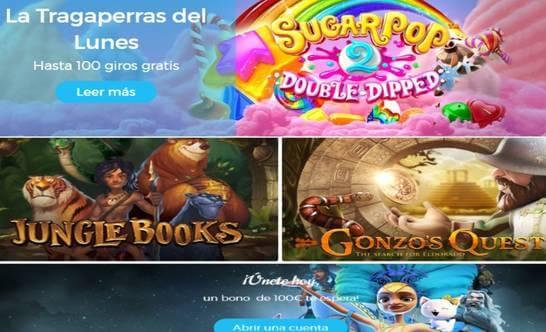 Giros gratis de lunes en tragaperras Casino Estrella