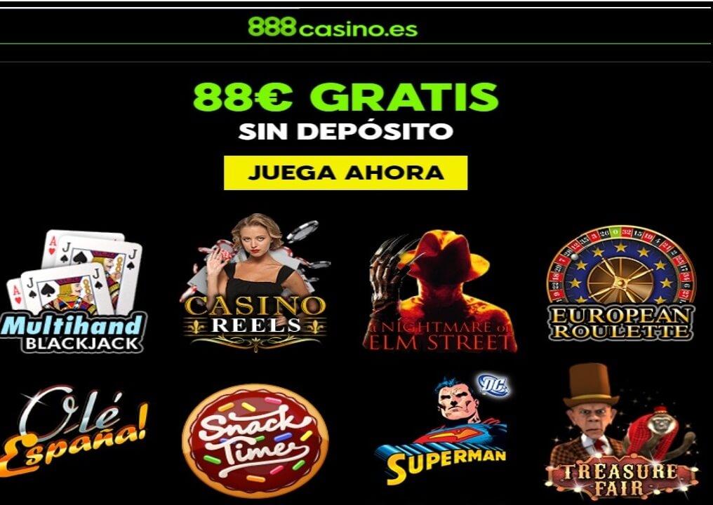 Casino 888 bono por registro de 88 euros gratis