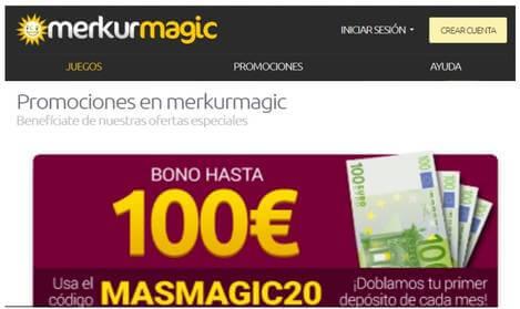 Merkurmagic bono de hasta 100 euros por depósito