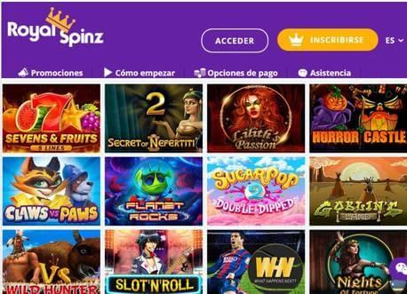 El casino Royalspinz entrega un bono de garantía a sus jugadores