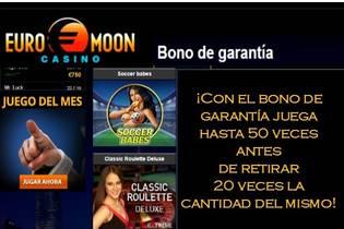 20 veces el valor del bono en Casino Euromoon